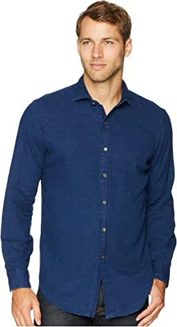 Indigo Twill Long Sleeve Sport Shirt