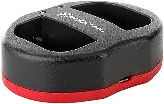 Baxxtar USB Dual Cargador Twin Port 1823/2 para la batería Canon LP-E6 LP-E6N a Canon XC10 XC15 EOS 90D 80D 70D 60D 60Da 6D Mark I II 7D 7D Mark II 5DS 5D R 5D Mark II III IV etc.