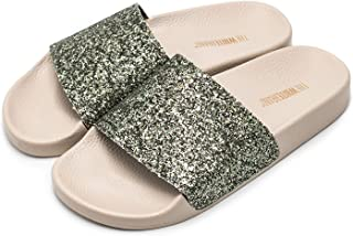 The White Brand Glitter, Sandales Bout Ouvert Femme