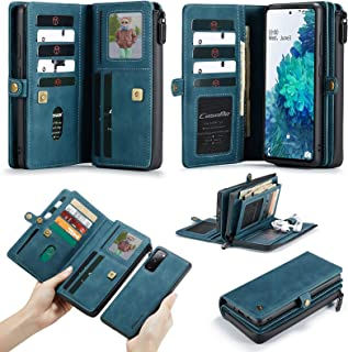 Compatible with Samsung Galaxy A52 5G Wallet Case, Multi-Functional PU Leather Purse Flip Zip Wristlets Clutch Detachable ...