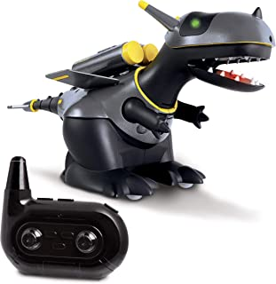 SHARPER IMAGE RC Interactive X-Rad Dragon Robot, Cool Sci-Fi Bot with Flapping Wings + Wheels, Talking, LED Eyes, Patrol Mode, Virtual Leash, Wireless Control, Full Directional Movement, Battery Power