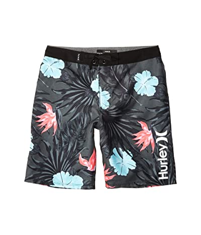 Hurley Kids Lanai Boardshorts (Big Kids) (Black) Boy