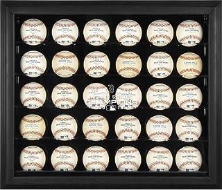 Sports Memorabilia Boston Red Sox 2018 MLB World Series Champions Black Framed Logo 30-Baseball Display Case - Baseball Wall Mountable Display Cases