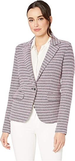 Neapolitan One-Button Knit Jacket