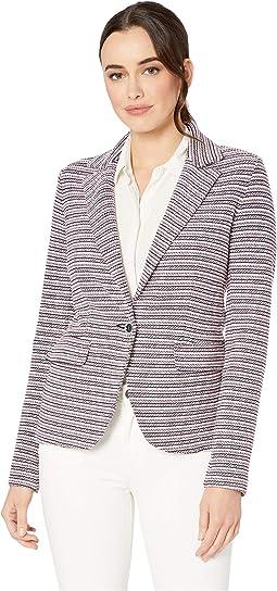 Neapolitan One-Button Knit Jacket