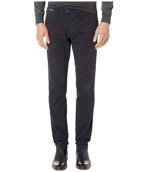 eleventy Flat Front Regular Fit Stretch Cotton Pants