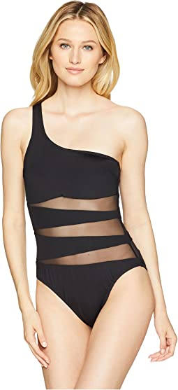 Sexy Solids One Shoulder Mio One-Piece Swimsuit