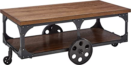 Coaster Home Furnishings Coffee Table with Casters Rustic Brown