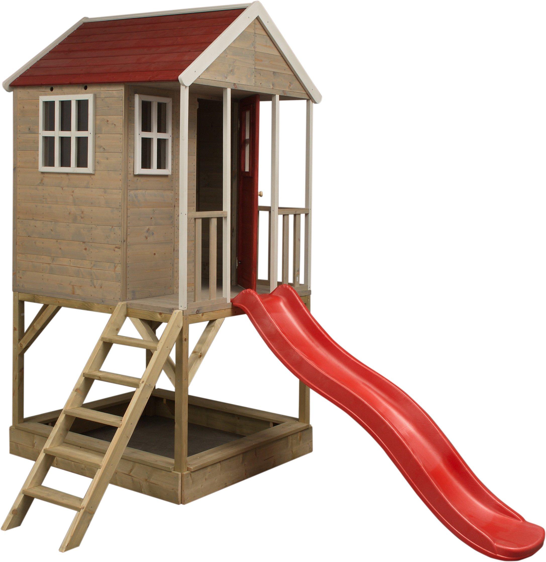 Wendi Toys M8 Nordic Adventure House | Casita infantil de madera para exterior | Casa de jardín de tipo abierto | casa de aventura nórdica en plataforma: Amazon.es: Juguetes y juegos