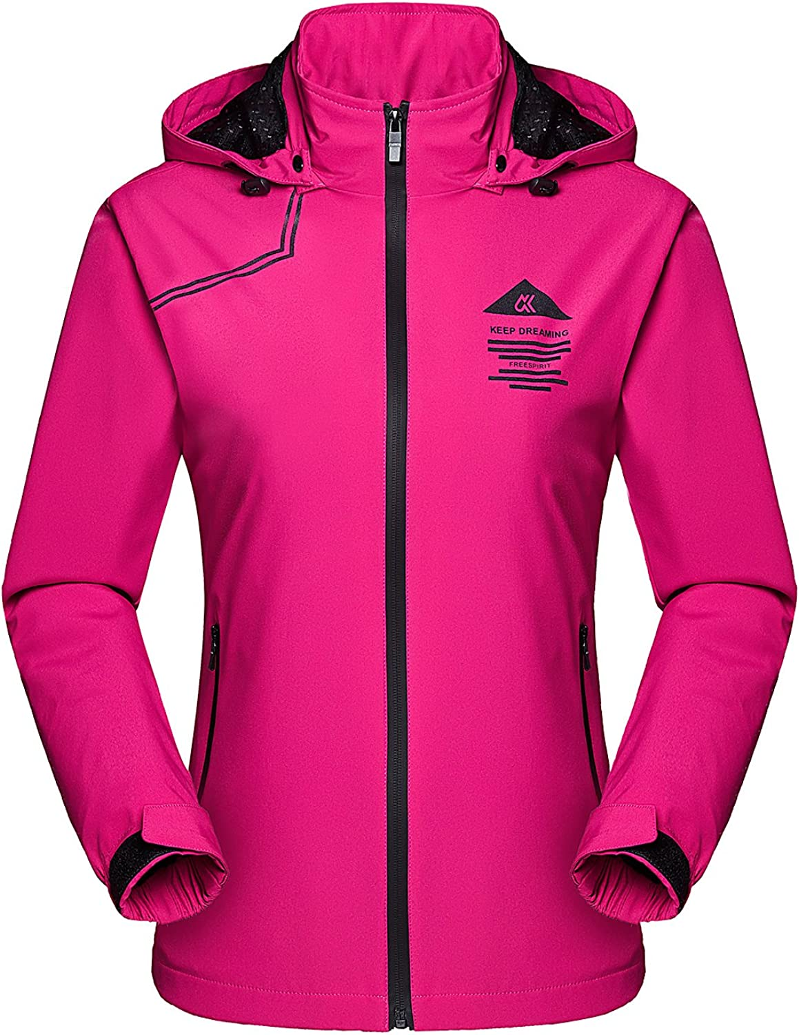 MAGCOMSEN Women's Hooded Lightweight Windbreaker Jacket UV Predect Windproof Jacket Outdoor Running Top