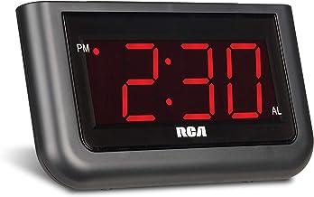 "RCA Reloj despertador digital con pantalla grande de 3.55 cm (1.4"")"