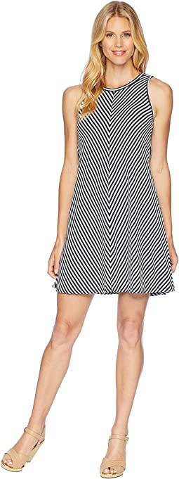 Desert Stripe A-Line Tank Dress w/ Tie-Back