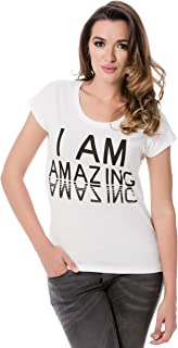 Vero Moda Bella African Short Sleeve T-Shirt For Women - L, Snow