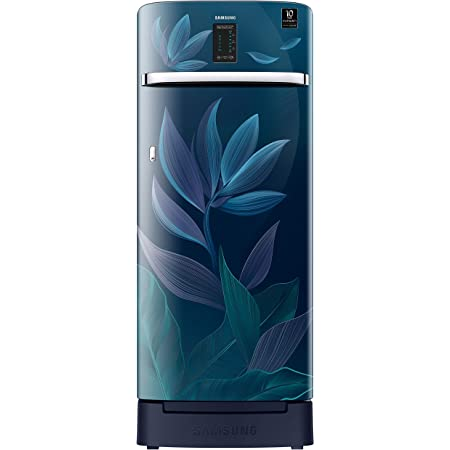 Samsung 225 L 4 Star Inverter Direct Cool Single Door Refrigerator(RR23A2F3X9U/HL, Paradise Blue, Base Stand with Drawer, Digi-Touch Cool)