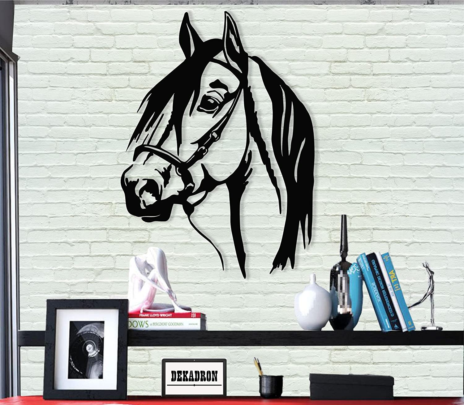 Amazon Com Metal Wall Art Horse Head 3d Wall Silhouette Metal Wall Decor Home Office Decoration Bedroom Living Room Decor Sculpture 13 W X 18 H 33x46cm Everything Else