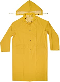 CLC Custom Leathercraft Rain Wear R105M .35 MM PVC Trench Coat, Medium,Yellow