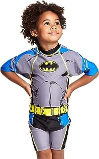 Zoggs 男孩蝙蝠侠全合一泳衣 带紫外线*功能