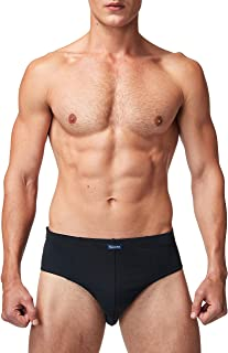 VANEVER Men's Briefs Basic Cotton Underwear with Pouch and Elastic Waistband, 3 Pack