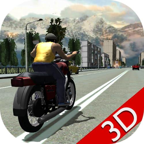 Russian Moto Race the Traffic