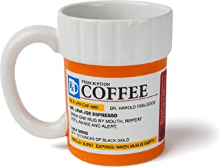 BigMouth Inc. The Prescription Coffee Mug – Hilarious 12 oz Ceramic Coffee Cup in the..