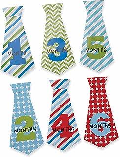 Mud Pie Boy Necktie Milestone Stickers, Multi Blue