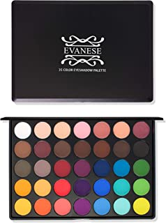 Evanese Beauty Makeup 35 Color High Pigment Eyeshadow Palette Latin Fever