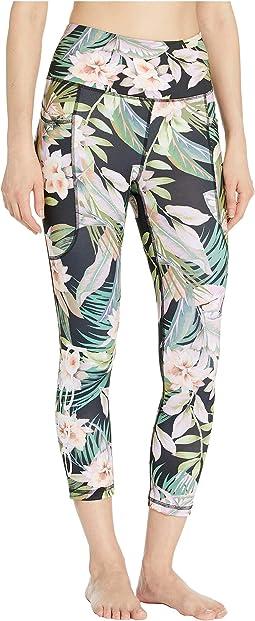 Tropical Palms/Jet Black
