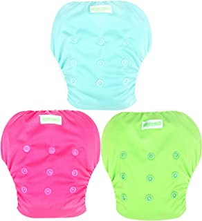 Wegreeco Baby & Toddler Snap One Size Reusable Baby Swim Diaper (Fresh,Large,3 Pack)