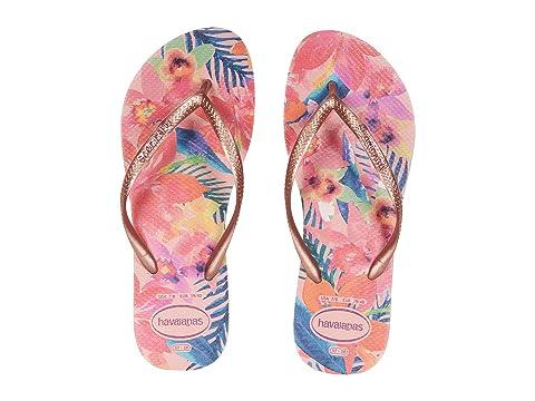 Havaianas Slim Metallic Tropical Flip Flops v1KdN