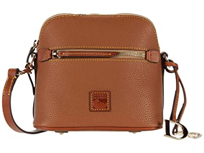 Dooney & Bourke Pebble Domed Crossbody (Caramel) Handbags