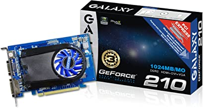 Galaxy GeForce 210 1 GB GDDR2 PCI Express 2.0 DVI/HDMI/VGA Graphics Card, 21GGE8HX3AUM
