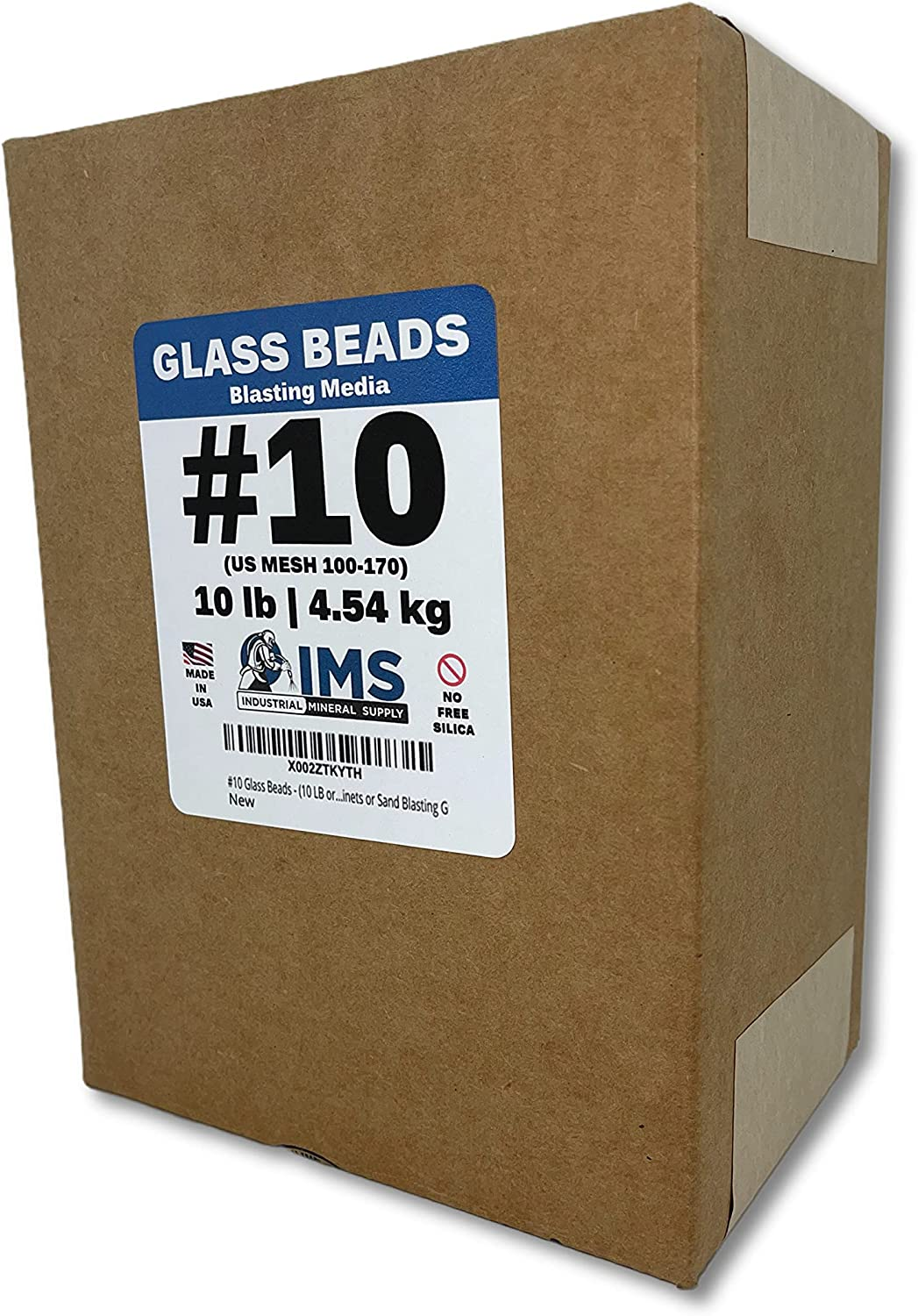 #10 Glass Beads - 10 LBS Blasting or 4.54 Abrasive Media Colorado Springs Mall kg Large discharge sale