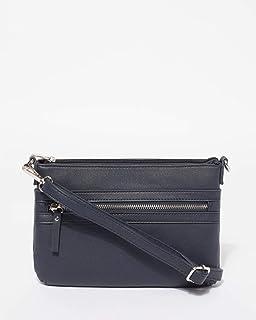 Navy Large Zip Pocket Peta Crossbody Bags