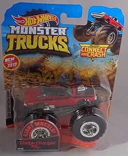 Hot Wheels New 2019 Monster Trucks Giant Wheels Red Dodge Charger R/T 1:64