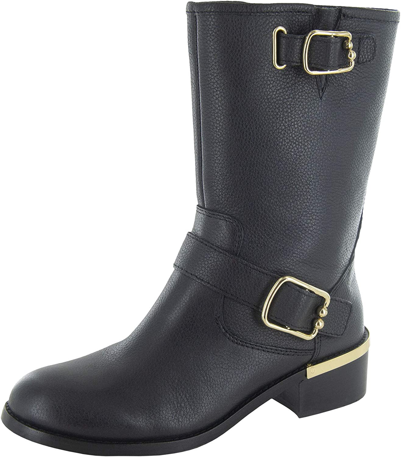Vince Camuto Womens Wantilla Leather Closed Toe Mid-Calf Fashion Boots