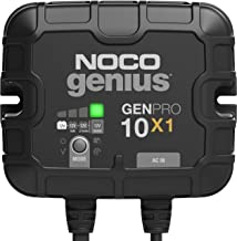 NOCO Genius GENPRO10X1, 1-Bank, 10-Amp (10-Amp Per Bank) Fully-Automatic Smart Marine Charger, 12V Onboard Battery Charge...