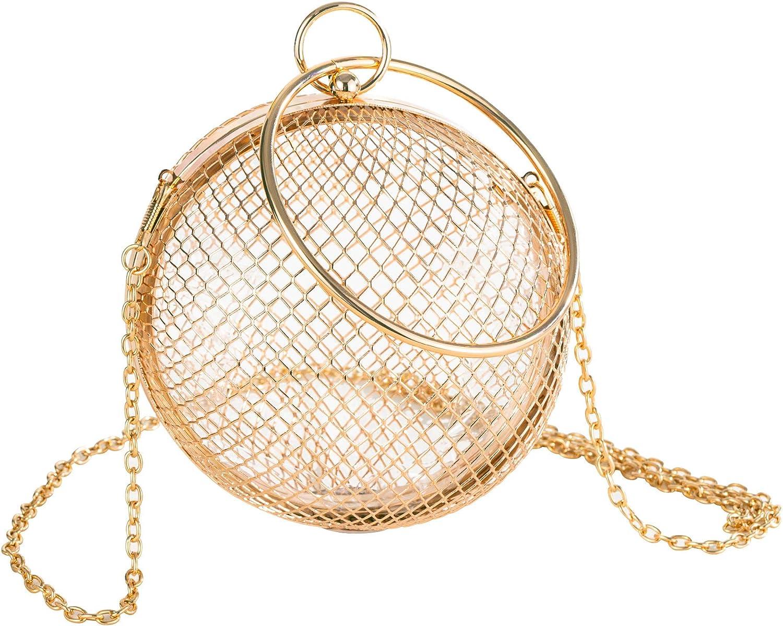 Ranking TOP18 Molshine Metal Hollow Round Evening Mesh discount Cros Handbag Spherical