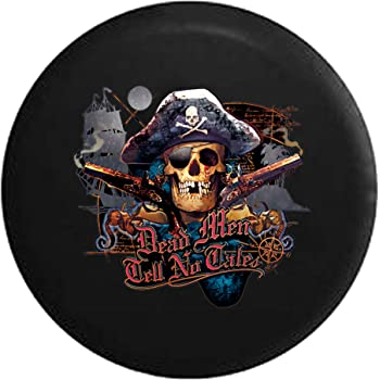 Smoked Out Grinning Skull Face Jeep RV Spare Tire Cover Black 29 in American Unlimited
