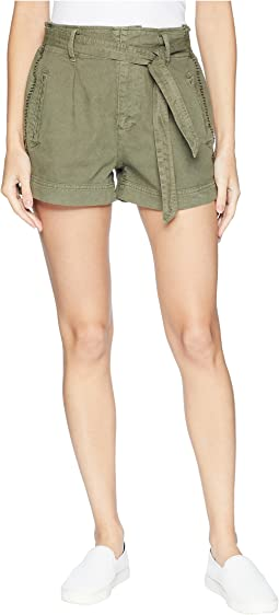 Twill Belted Shorts