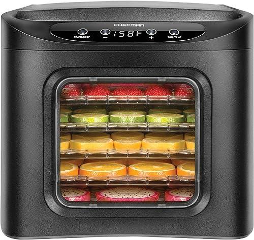 Chefman-Food-Dehydrator-Machine,-Touch-Screen-Electric-Multi-Tier-Preserver