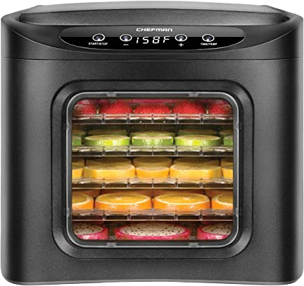 Chefman Food Dehydrator Machine, Touch Screen Electric Multi-Tier Food Preserver, Meat or Beef...