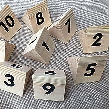 Tabelnummers, Hout Restaurant Place-nummerplaat, Geschikt Voor Bruiloft, Feest, Evenementen Of Catering Decoraties, 50x60m...