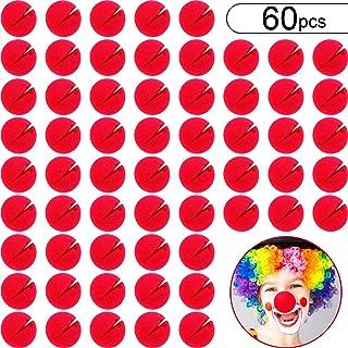 60 Piezas Narices de Payaso Rojo Nariz de Juego de rol Nariz de Espuma de Circo para Traje de Fiesta de Disfrazar en Halloween Navidad Carnaval