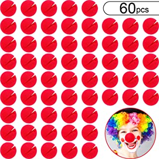 60 Pieces Red Clown Noses Cosplay Noses Foam Circus Noses for Halloween Christmas Carnival Costume Party Dress Up