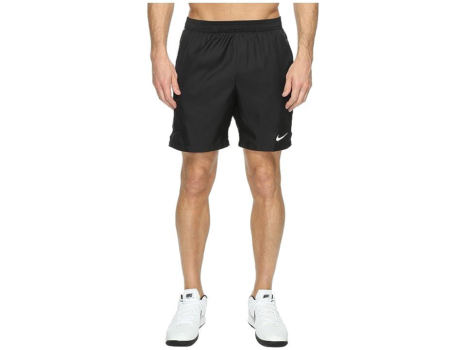Nike Court Dry 7 Tennis Short (Black/White/White) Men