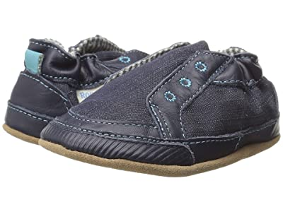 Robeez Stylish Steve Soft Sole (Infant/Toddler) (Navy) Boys Shoes
