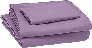 AmazonBasics Kid's Sheet Set - Soft, Easy-Wash Microfiber - Twin, Violet