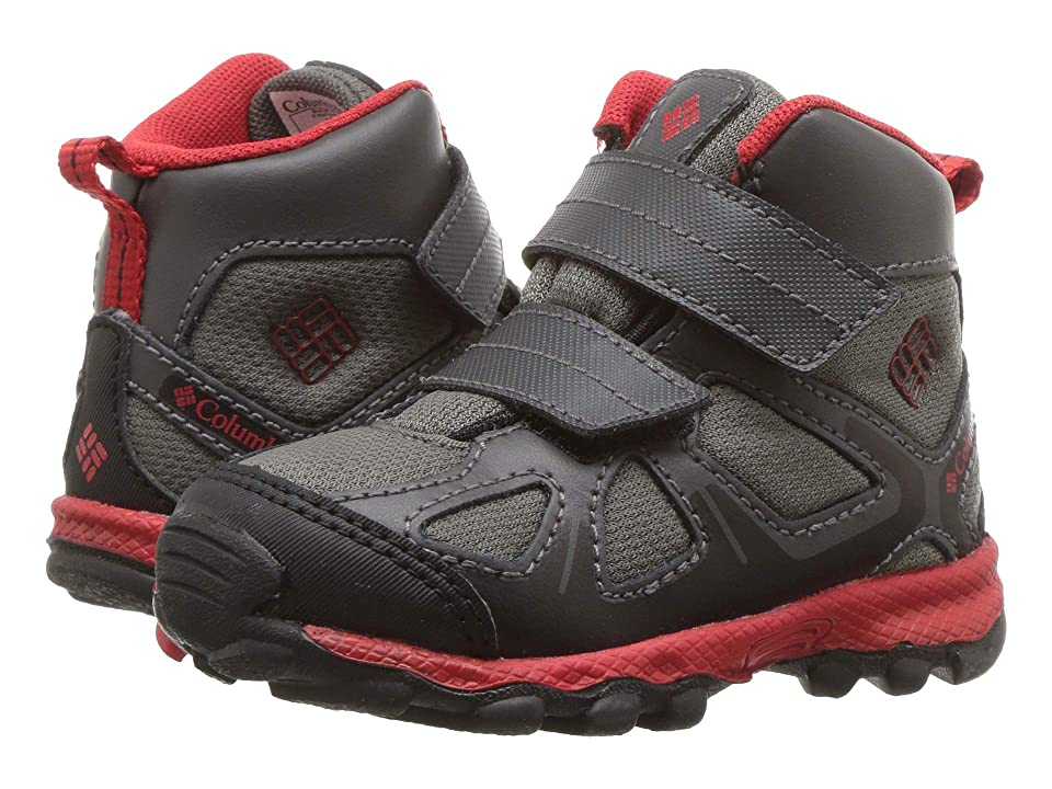 Columbia Kids PeakFreaktm Xcrsn Mid Waterproof (Toddler) (City Grey/Bright Red) Boys Shoes