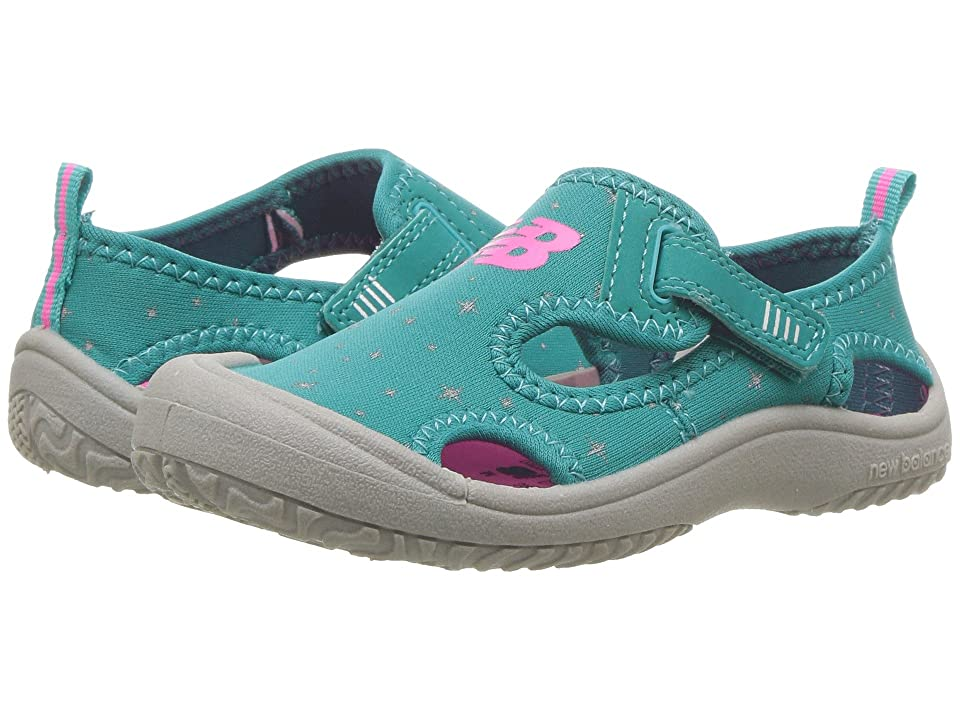 New Balance Kids Cruiser Sandal (Toddler/Little Kid) (Grey/Green) Girls Shoes