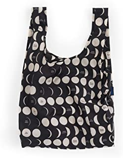 BAGGU Standard Reusable Shopping Bag, Eco-friendly Ripstop Nylon Foldable Grocery Tote, Moon